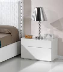 view larger gallery white bedside table with no handles modern bed side view88 modern