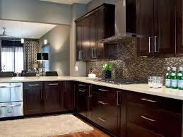 interior when dark applied kitchen cabinet clear glass vase brown paint ideas flower pink black wooden