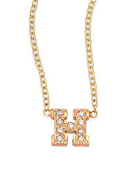 gallery previously sold at saks fifth avenue women s initial necklaces