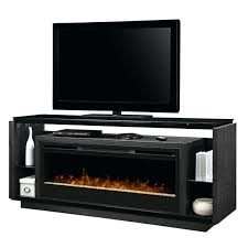 electric fireplace insert with glass doors ember bed stand in smoke l