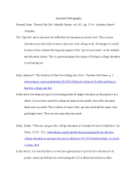 Annotated Bibliography For Lit 102 Student Financial Aid In The