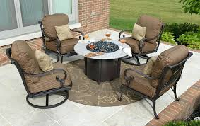 patio furniture fire pit patio furniture with fire pit costco
