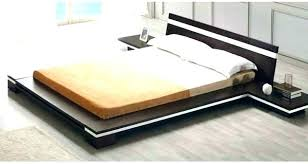 Flat Platform Bed Frame Queen Full King Solid Wood In Espresso Shown ...