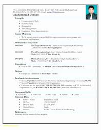 Fresher Resume Format Doc Study Certificate Format Doc New Mca