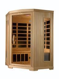 Golden Design 3 Person Sauna Equinox 3 Person Low Emf Far Infrared Corner Sauna