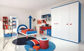 modern bedroom for boys. Couple Blue With Other Vivacious Colors Set Against Pristine White Canvas Modern Bedroom For Boys O