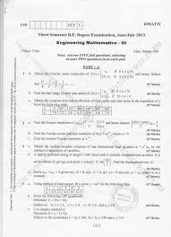 rd semester mechanical engineering question papers
