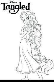 200+ tranh tô màu công chúa tóc mây xinh đẹp và dễ thương