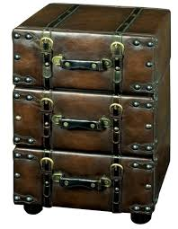 Luggage With Drawers Vintage Leather Style Three Drawer Chest Cupboard From The Just
