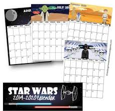 By design is yay ! Free Star Wars Calendar 2020 Printable