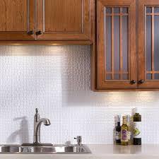 terrain pvc decorative tile backsplash in matte white