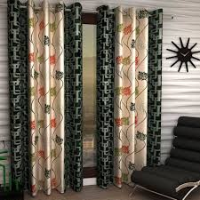 Indian Curtain Designs Pictures Buy India Furnish Designer Green Color Eyelet Polyester