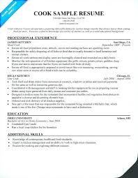 Cook Resume Objective Fry Cook Resume Resume For Cook Cook Resume Line Cook Resume 34