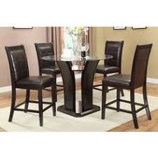 levice 5 piece counter height dining set in dark brown finished 956 00 kitchen dining