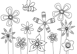 coloring pages for kids flowers. Simple Pages Promising Flower Patterns For Kids Coloring Pages Printable Flowers Alluring On G