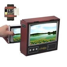 Retro Tv Online 3d Mobile Phones Zoom Magnifying Glass Diy Retro Tv Cell Phone Screen Hd Magnifier
