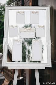 Wedding Photography Classic Seating Chart On A White Wooden