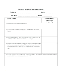 Middle School Lesson Plan Templates English Lesson Plan Template