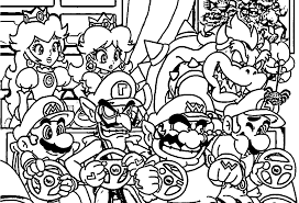 Super Mario Coloring Pictures Printable Coloring Page For Kids