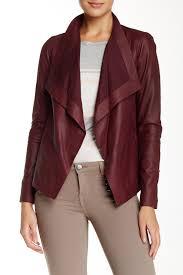 vince d neck genuine leather jacket nordstrom rack