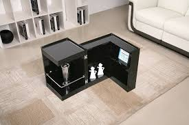 contemporary coffee end table with mini