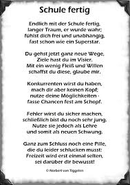 Schule Fertig Abitur Mittlere Reife Van Tiggelen Gedichte