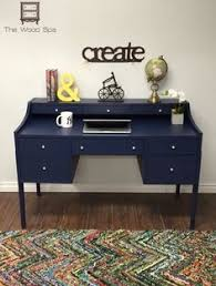 navy blue desk. Coastal Blue And Java Gel Vintage Desk | Pinterest Gel, Stains Desks Navy