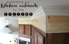 Ceiling Kitchen Step By Step On How We Extended Out Kitchen Cabinets To The