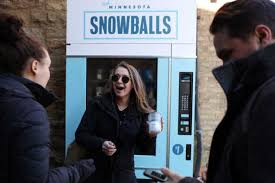 Vending Machines Mn Amazing A 48 Snowball North Loop Vending Machine Dispenses A Temporary