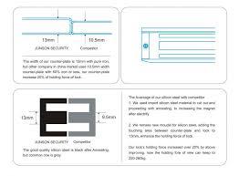 1200lbs 2 sliding door magnetic lock for double swing glass door cc sgs approved js 500ds