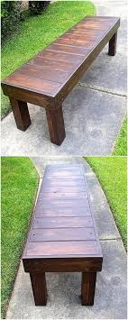 reclaimed wood pallet bench. Interesting Projects Out Of Recycled Wood Pallets Reclaimed Pallet Bench