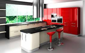 Red Kitchen Paint Impressive Kitchen Paint Colors Ideas With Red Colored Kitchen And