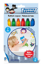 bring out your child s creativity and imagination with this set of 6 bathtub crayons to draw colorful pictures on bathtubs tile or your