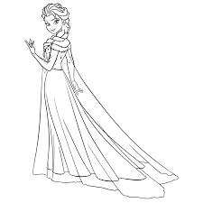 Kleurplaat Elsa Ijspaleis