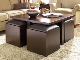 Image Of: Brown Leather Ottoman Coffee Table