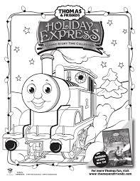 FREE Thomas & Friends Holiday Coloring Sheet! - Jolly Mom