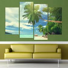 Palm Tree Decor For Living Room Popular Palm Wall Art Buy Cheap Palm Wall Art Lots From China Palm