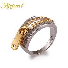 <b>Ajojewel</b> Size 6 10 Brand Classical Design AAA <b>CZ</b> Gold color Sexy ...