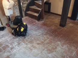 quarry tiles before cleaning ringstead