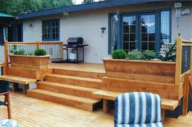 deck garden box. Planters, Deck Planter Box Plans Seats Landscaping Vintage Magnificent Chic Brown: Astonishing Garden