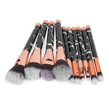 10 pcs amazon marble makeup brushes and their uses brush sets shenzhen color me cosmetic co ltd