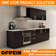 china fast delivery modern black melamine whole wood kitchen cabinet op14 k008 china kitchen cabinet kitchen furniture