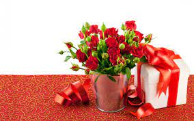Red Rose Flower Arrangements And A Gift ...