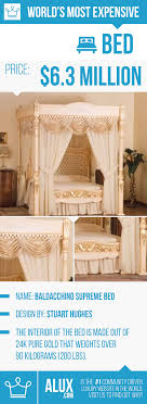 most expensive bed in the world gold alux price made of luxury