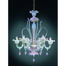 six arm pink opeline italian murano glass flower chandelier art with regard to new property murano glass chandelier italy ideas