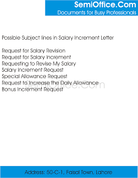 Requesting A Salary Increase What Is The Subject In Salary Increment Letter