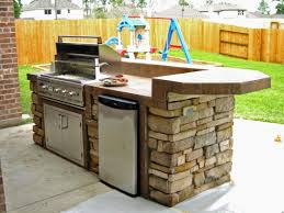Small Size Kitchen Appliances Outdoor Kitchen Idea Small Size Raised Rounded Social Bar
