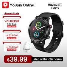 2021 Newest <b>Haylou</b> RT <b>LS05S Smart</b> Watch Sport Heart Rate ...