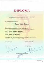 school diploma middelbare school diploma