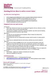 Effective Covering Letters Covering Letter Careers Central